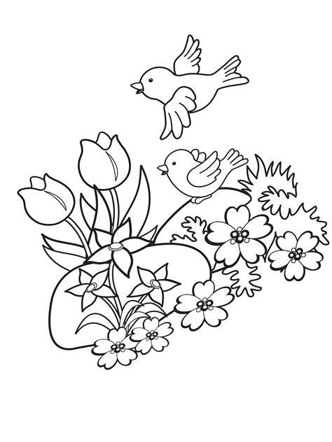 Malvorlagen Kinder Frühling