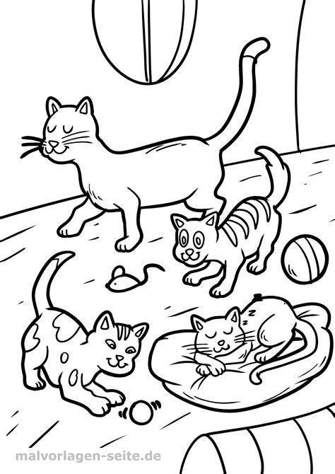 Malvorlagen Kinder Katze