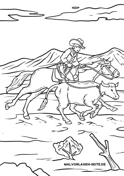Malvorlagen Kostenlos Cowboy