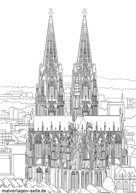 Malvorlagen Kostenlos Kölner Dom