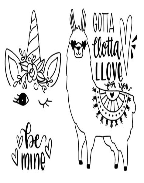 Malvorlagen Kostenlos Lama