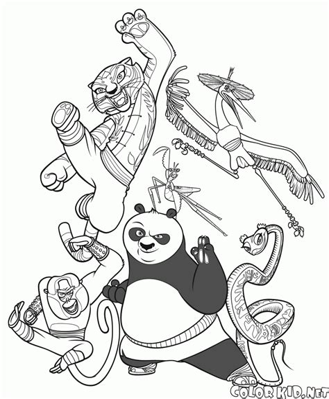 Malvorlagen Kung Fu