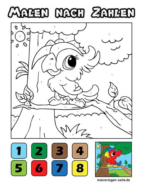 Malvorlagen Malen Nach Zahlen Für Kinder