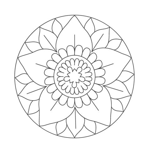 Malvorlagen Mandala Einfach
