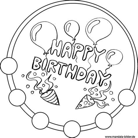 Malvorlagen Mandala Geburtstag