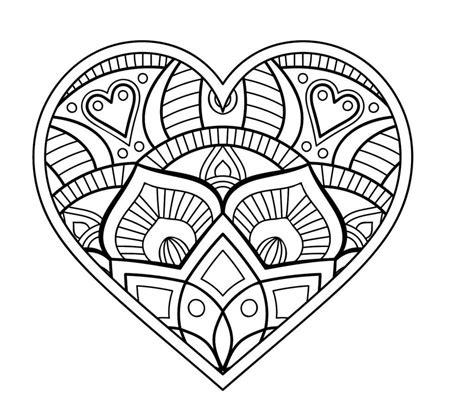 Malvorlagen Mandala Herzen