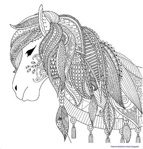 Malvorlagen Mandalas Pferde