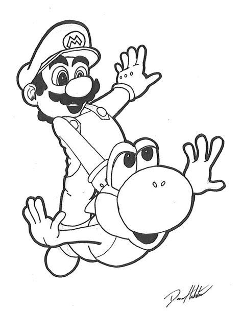 Malvorlagen Mario Und Yoshi