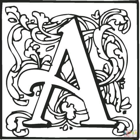 Malvorlagen Mittelalter Buchstaben
