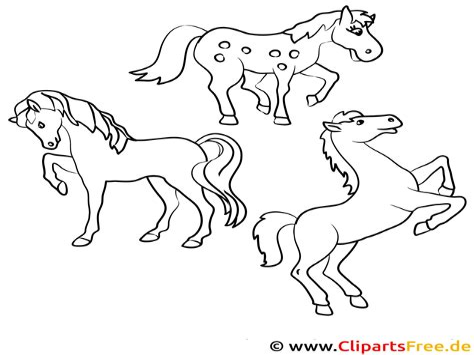 Malvorlagen Pferde Kostenlos