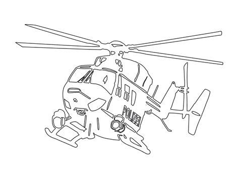 Malvorlagen Polizei Helikopter