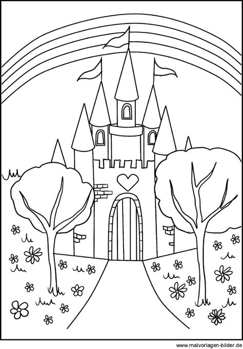 Malvorlagen Prinzessin Schloss