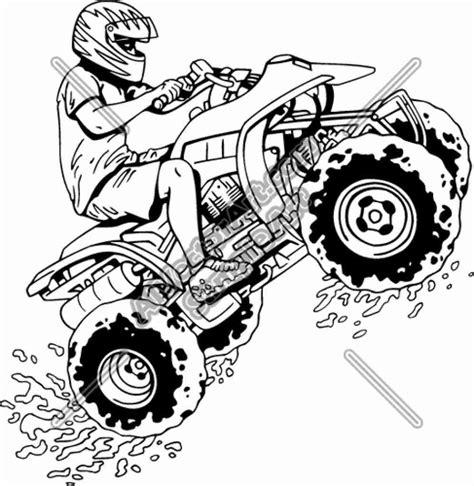 Malvorlagen Quad Rider