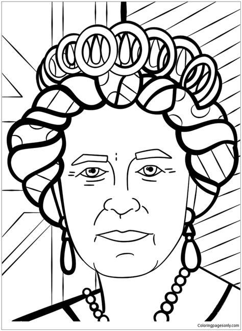Malvorlagen Queen Elizabeth
