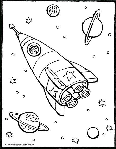 Malvorlagen Rakete Weltraum Quest
