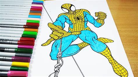 Malvorlagen Spiderman Yellow