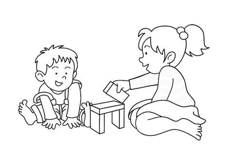 Malvorlagen Spielende Kinder