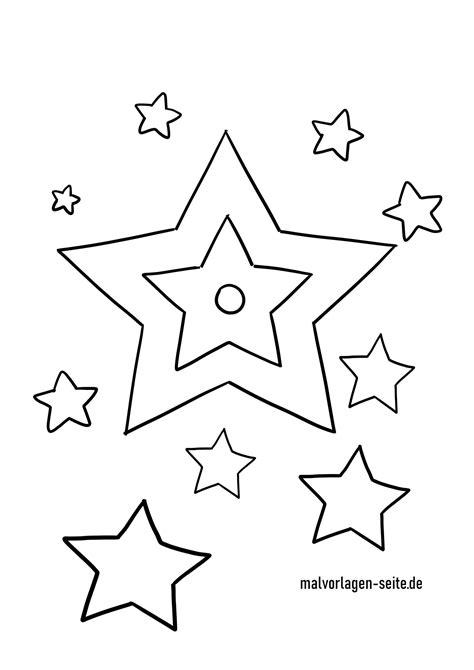 Malvorlagen Sterne Gratis
