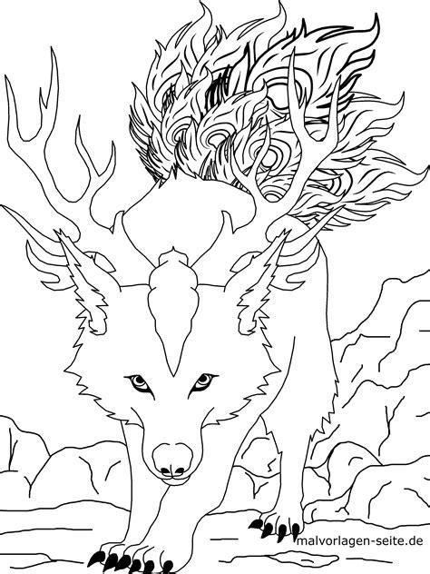 Malvorlagen Tiere Wolf