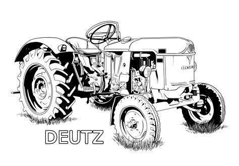 Malvorlagen Traktor Deutz