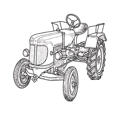 Malvorlagen Traktor John Deere