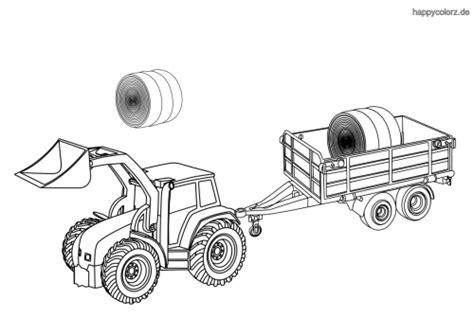 Malvorlagen Traktor Mit Anhänger