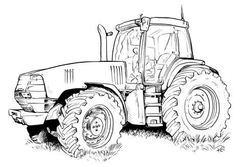 Malvorlagen Traktor Mit Hänger