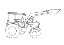 Malvorlagen Traktor Mit Schaufel