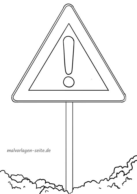 Malvorlagen Verkehrsschilder Illustrator