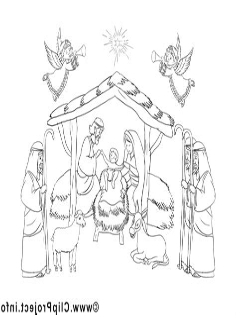 Malvorlagen Weihnachten Krippe