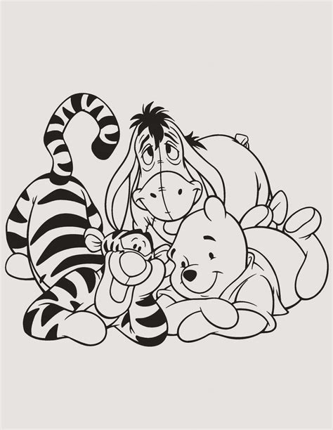 Malvorlagen Winnie Pooh Und Seine Freunde