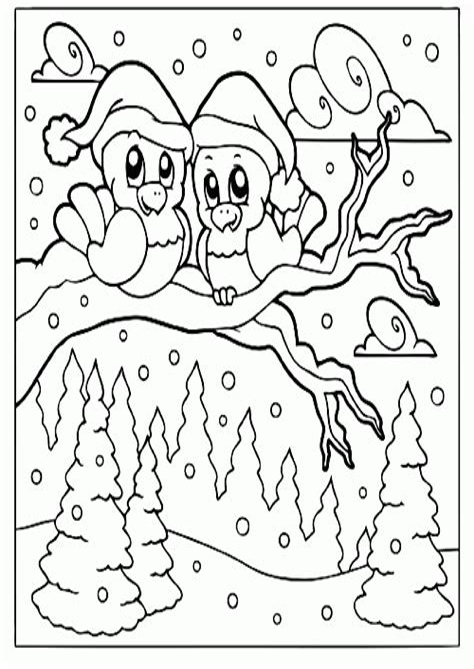 Malvorlagen Winter Weihnachten Pdf