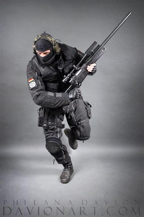 Man Shooting Rifle Action Pose