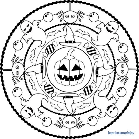 Mandala Halloween Malvorlagen