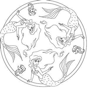 Mandala Malvorlagen Meerjungfrau