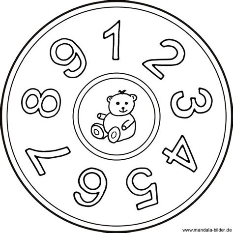 Mandala Malvorlagen Mit Zahlen