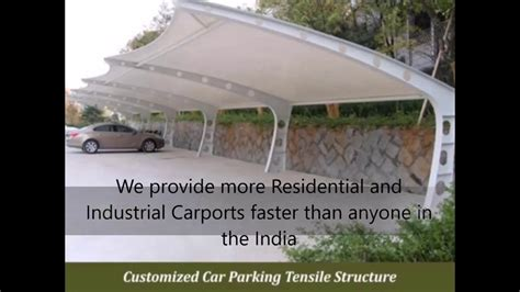 Manufacturers car parking sheds structure design supply installation construction delhi india Image