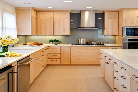 Maple Kitchen Cabinets Contemporary