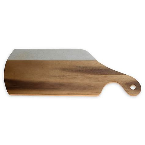 marble wood cutting board with handle