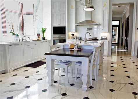 Marble Floors Kitchen Design Ideas