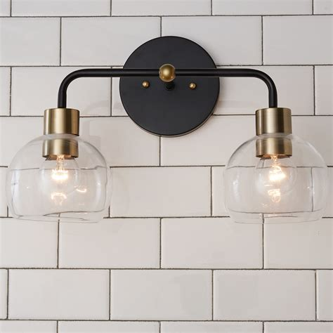 Maria 2-Light Vanity Light with Clear Glass