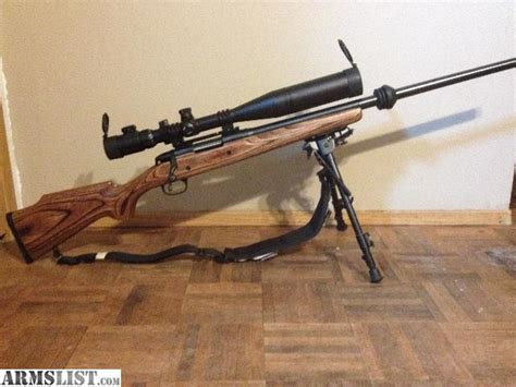 Marlin 223 Bolt Action Rifle Wood Stock