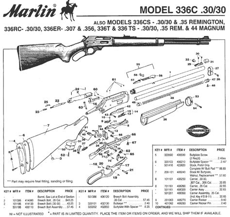Marlin 336 Schematic - Brownells UK