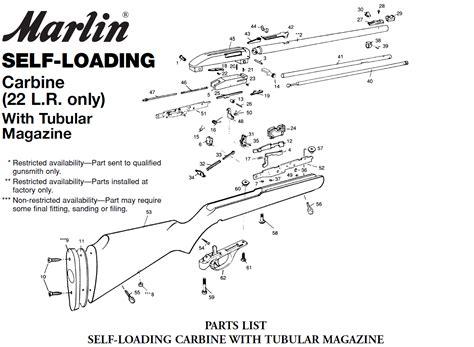 Marlin Firearms Rifle Model 2249 Parts
