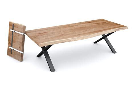 Massivholz Esstisch Mit Ansteckplatten