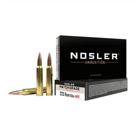 Match Grade 223 Remington 69gr Custom - Shop Nosler Com