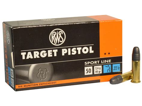 Match Pistol Ammo 22 Long Rifle 40gr Lead Round Nose Eley