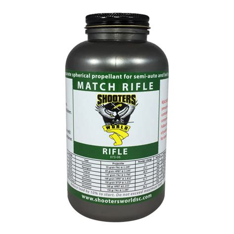 Match Rifle Powder Propellant Shooters World