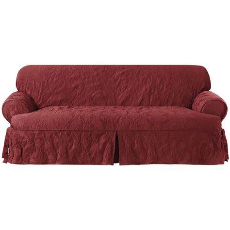 Matelasse Damask T-Cushion Sofa Slipcover