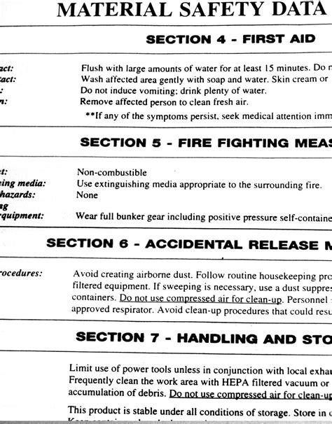 Material Safety Data Sheet Msds Safety Data Sheet Sds